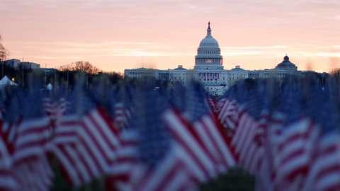 The Capitol ahead of Joe Biden's inauguration