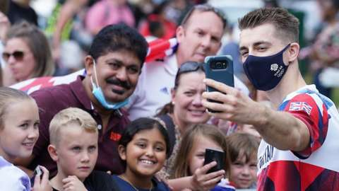 Max Whitlock at Essex homecoming with crowd