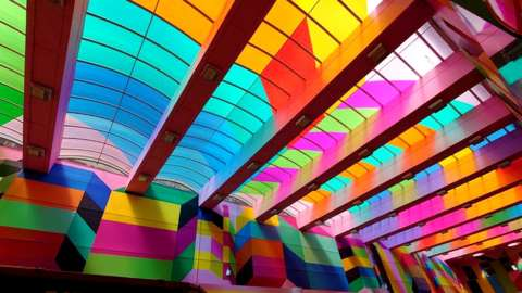 Artist Morag Myerscough has been working with the city council in order to bring some colour into Hertford Street