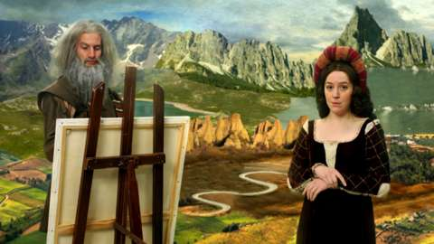 Horrible Histories Leonardo da Vinci and Mona Lisa