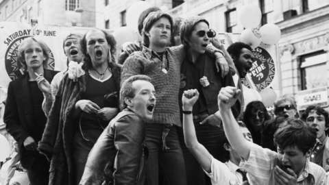 London, Gay Pride parade, Pall Mall, 1979, 30 June