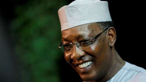 Chad's President Idriss Deby Itno (file photo)