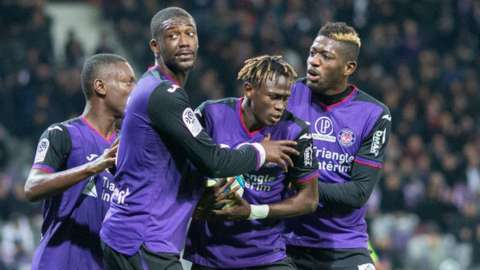 Toulouse players celebrate