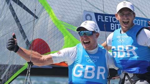 Dylan Fletcher of Britain and Stuart Bithell of Britain