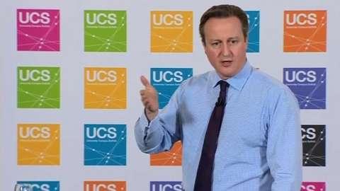 David Cameron at UCS