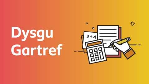 Logo Dysgu Gartref BBC Bitesize