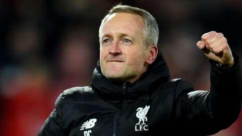 Neil Critchley celebrates a Liverpool win