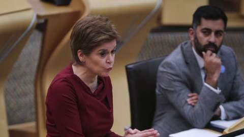 Nicola Sturgeon at FMQs