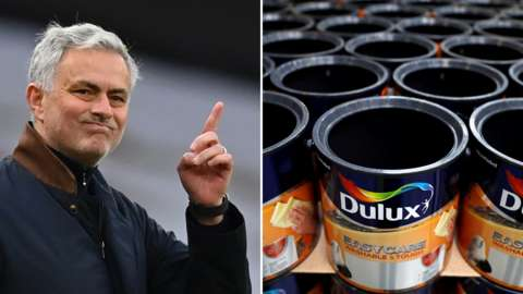Jose Mourinho and Dulux paint