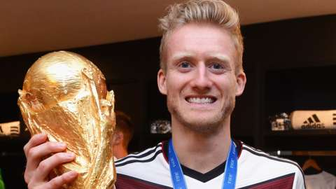 Andre Schurrle helped Germany win the 2014 World Cup