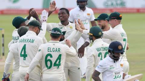 South Africa celebrate victory
