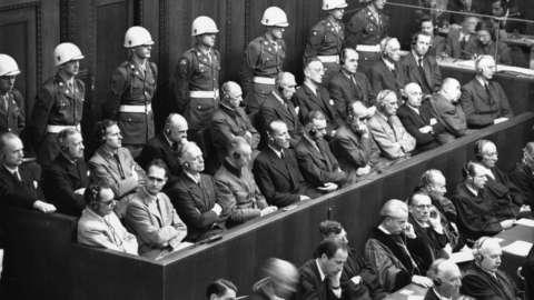 Nazis in the dock at Nuremberg war trials