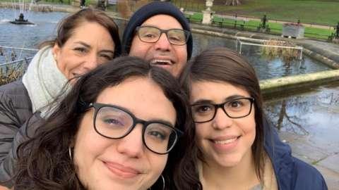 Daniela Arguello and her family