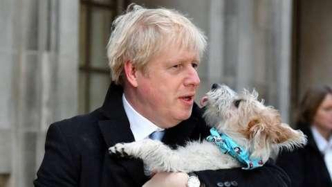 Boris Johnson and dog Dilyn