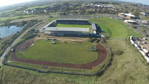 Aerial view of Sixfields