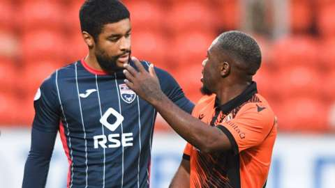 """Dundee United had said Jeando Fuchs was """"visibly upset by what he heard"""""""