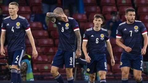 Scotland players after Croatia defeat at Hampden