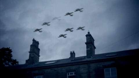 German planes flying over Leeds