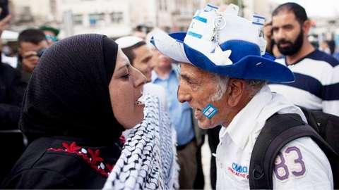 Conflict between Palestinian and Israeli locals