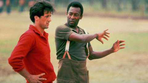 Sylvester Stallone and Pele in Escape to Victory