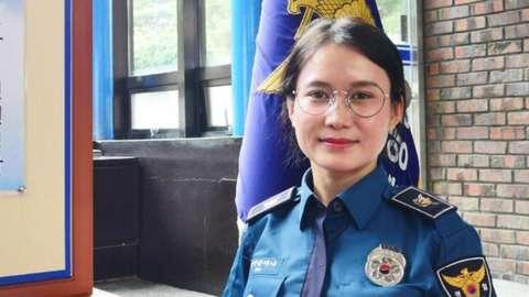 Kim Hana in her police uniform
