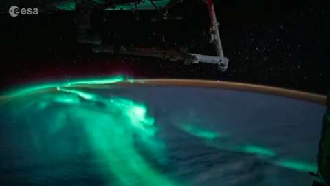 Aurora Borealis viewed from space