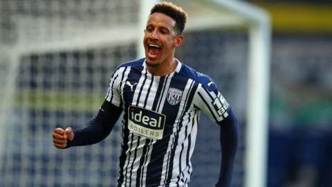 Callum Robinson celebrating scoring for West Brom