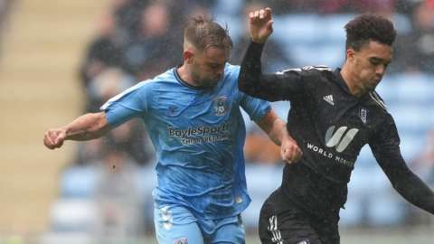Matt Godden's tangle with Fulham defender Antonee Robinson was the key turning point of Coventry's 4-1 win on Saturday
