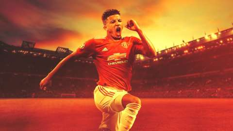 New Manchester United forward Jadon Sancho