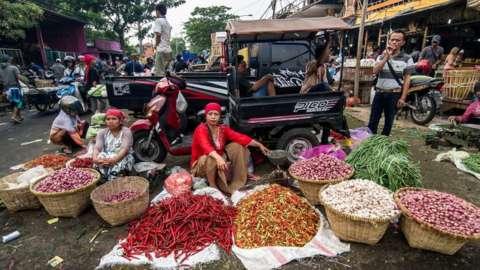 A market in Surabaya, Indonesia in 2017