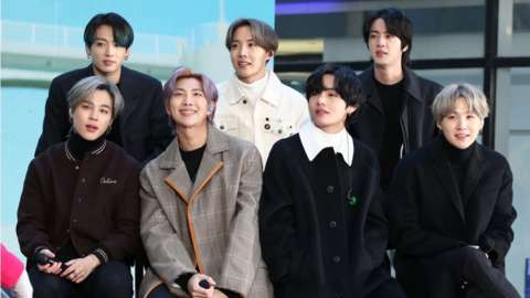 BTS are one of K-pop's biggest bands.