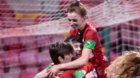 Cliftonville celebrated a 3-2 victory over Linfield