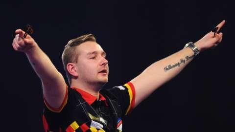 Belgian darts player Dimitri van den Bergh