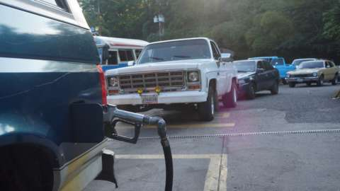 Fuel stop in Venezuela