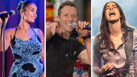 Jorja Smith, Coldplay and Haim
