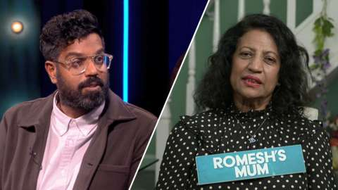 Romesh and his mother