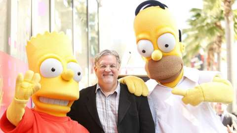 Matt with Homer and Bart