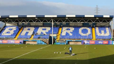 Barrow's main stand at Holker Street