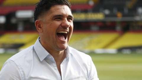 Watford boss Xisco Munoz celebrates promotion