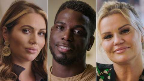Amy Childs, Marcel Somerville and Kerry Catona
