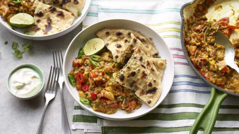 Smoky aubergine curry