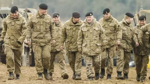 Soldiers from The Royal Tank Regiment in Wiltshire