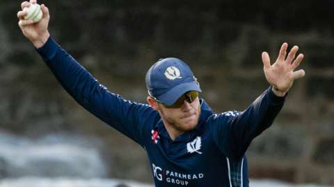 Scotland all-rounder Michael Leask