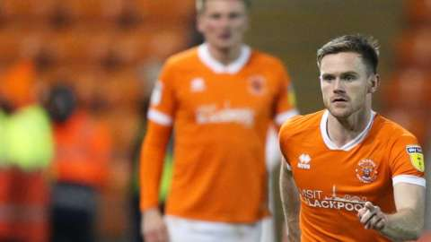 Ollie Turton in action for Blackpool