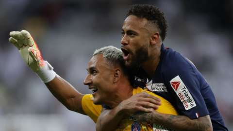 Keylor Navas and Neymar