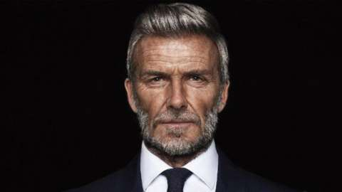 Photoshopped picture of David Beckham as an old man