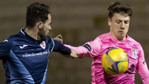 Raith Rovers against Inverness Caledonian Thistle
