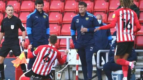 Max Power celebrates his goal for Sunderland against Oxford United