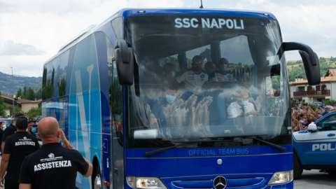 Napoli team bus