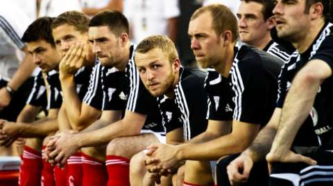 Scotland substitutes' bench